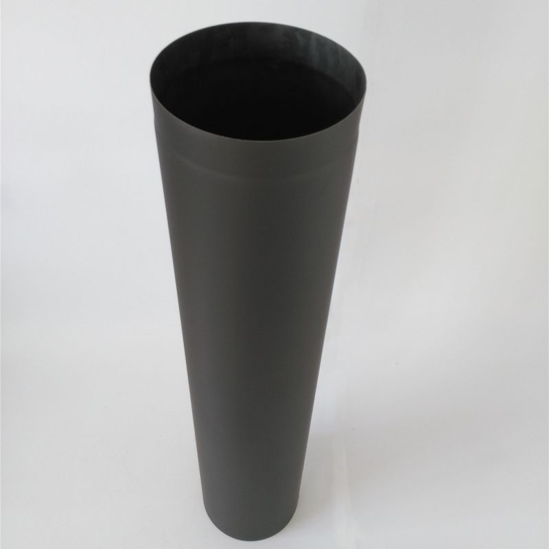 1000mm Length Black Chimney Pipe Single Wall Flue 316 Grade Stainless Steel